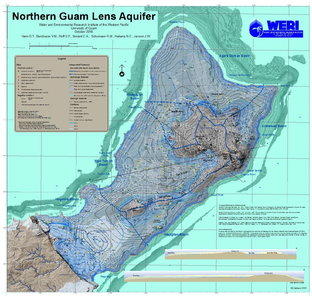 Northern Guam Lens Aquifer map